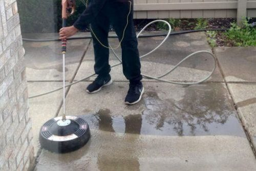 concrete power washing