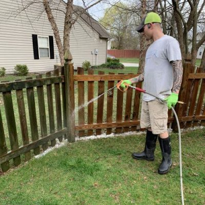 deck fence washing